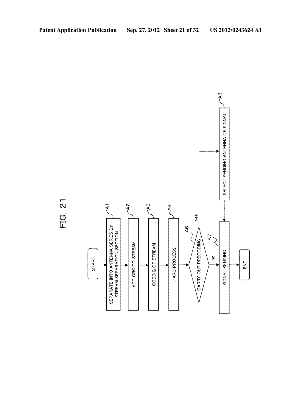 TRANSMISSION CONTROLLING METHOD, SENDER APPARATUS AND RECEIVER APPARATUS     FOR WIRELESS COMMUNICATION SYSTEM - diagram, schematic, and image 22