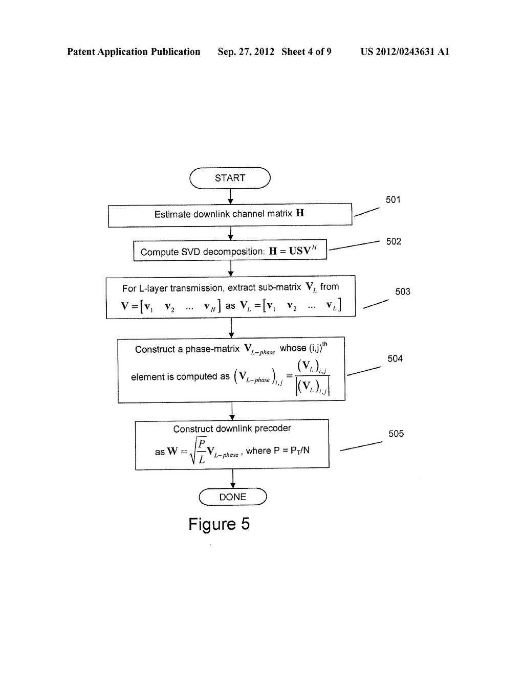 SYSTEMS AND METHODS FOR CREATING A DOWNLINK PRECODE FOR COMMUNICATION     SYSTEM WITH PER-ANTENNA POWER CONSTRAINTS - diagram, schematic, and image 05