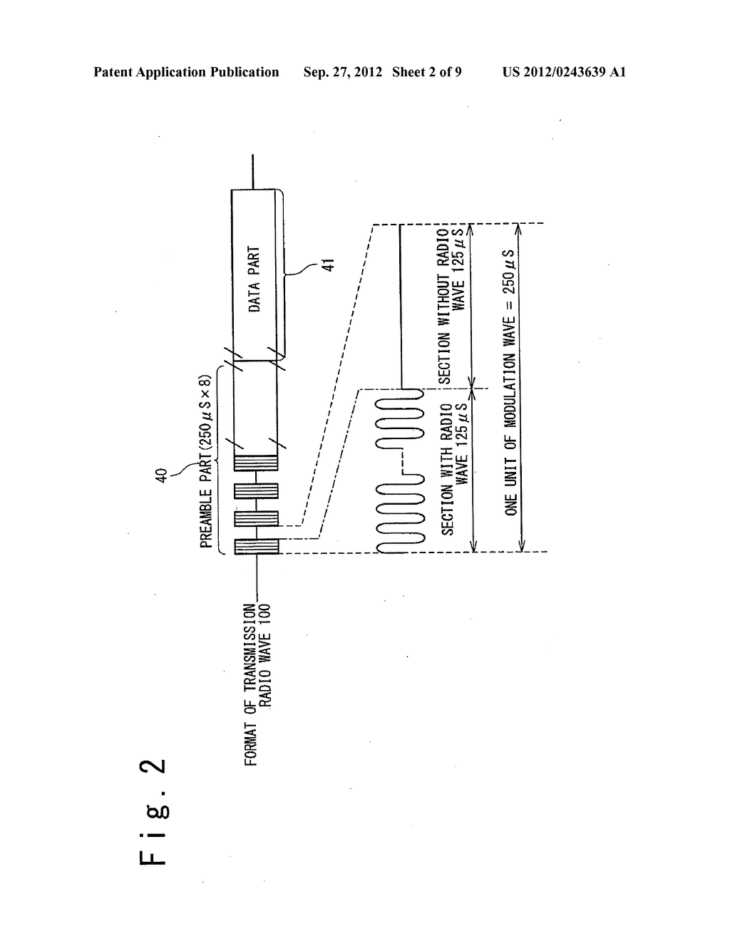 DATA COMMUNICATION DEVICE, AIR PRESSURE MONITORING SYSTEM USING THEREOF,     AND DATA COMMUNICATION METHOD - diagram, schematic, and image 03