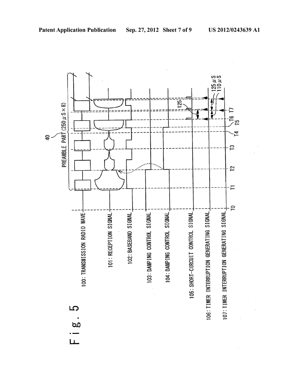 DATA COMMUNICATION DEVICE, AIR PRESSURE MONITORING SYSTEM USING THEREOF,     AND DATA COMMUNICATION METHOD - diagram, schematic, and image 08