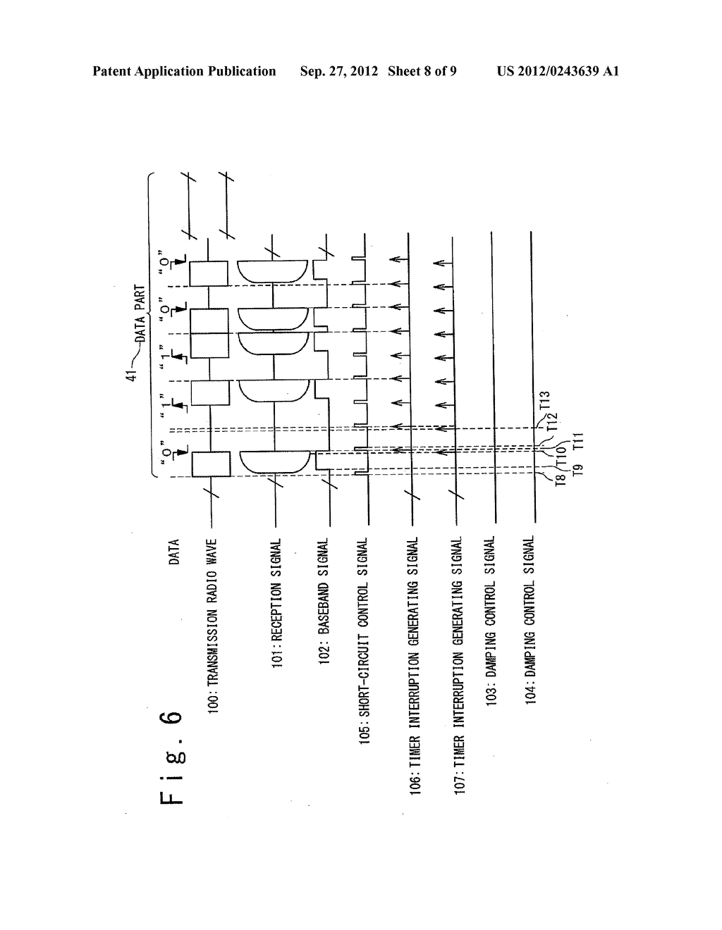 DATA COMMUNICATION DEVICE, AIR PRESSURE MONITORING SYSTEM USING THEREOF,     AND DATA COMMUNICATION METHOD - diagram, schematic, and image 09