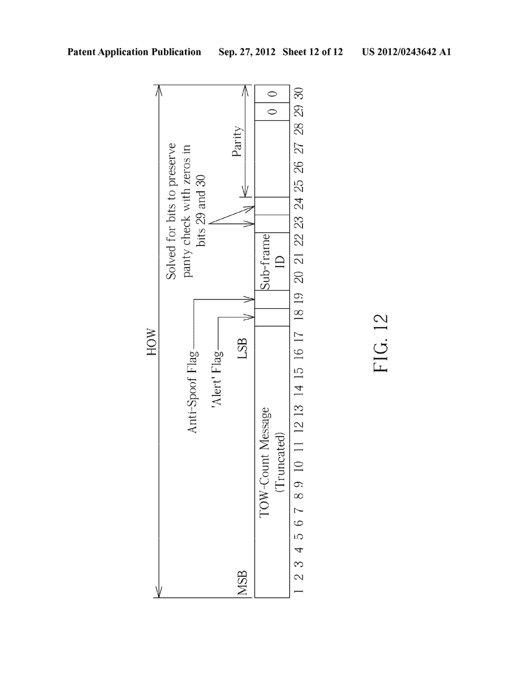 APPARATUS FOR DECODING GLOBAL NAVIGATION SATELLITE SYSTEMS NAVIGATION DATA     AND ASSOCIATED METHOD - diagram, schematic, and image 13
