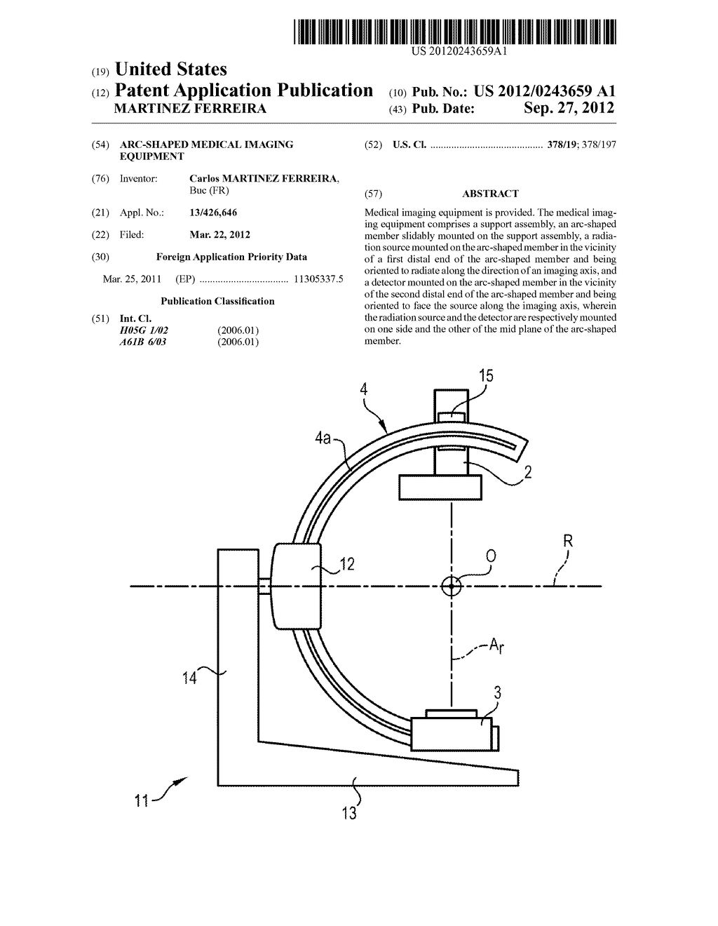 ARC-SHAPED MEDICAL IMAGING EQUIPMENT - diagram, schematic, and image 01