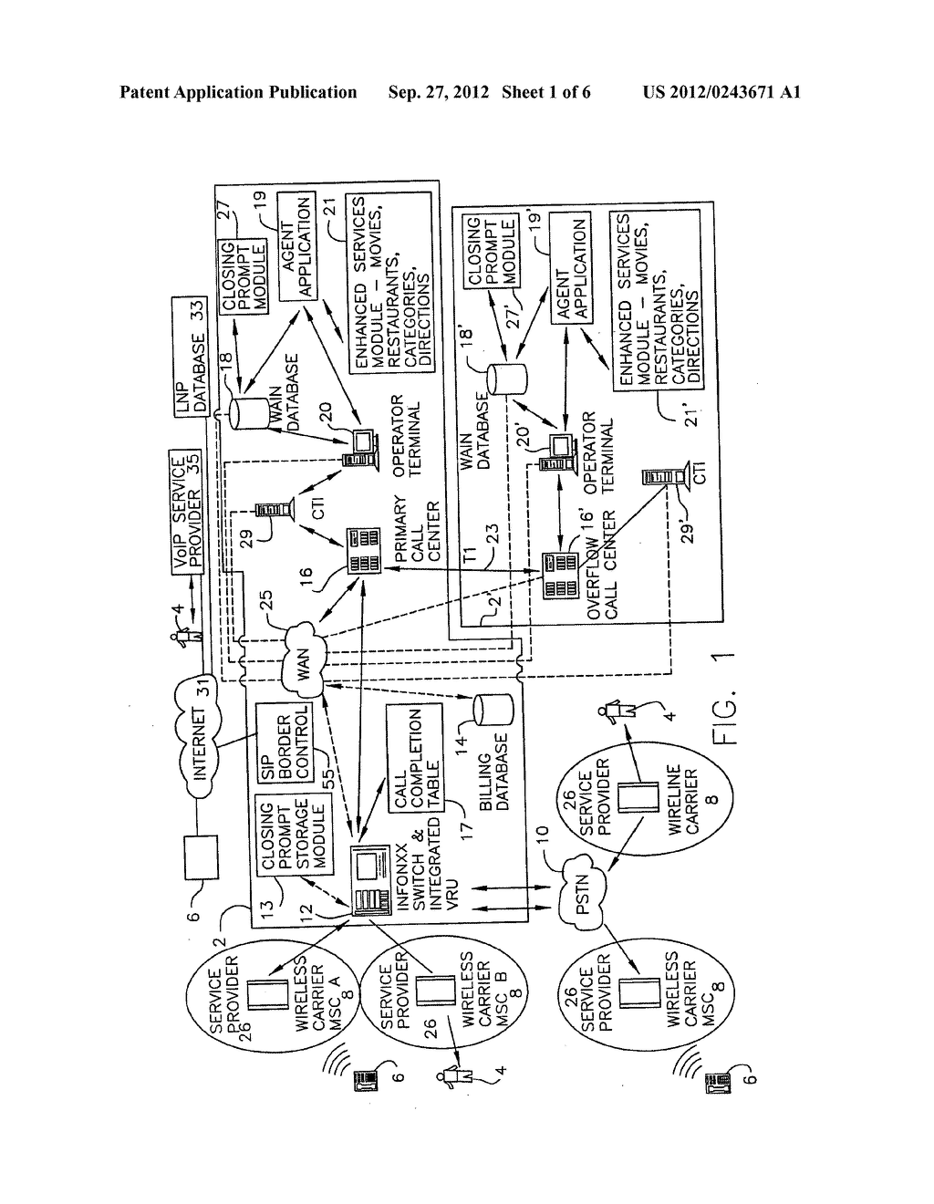 ENHANCED DIRECTORY ASSISTANCE SYSTEM WITH VOICE OVER IP CALL HANDLING - diagram, schematic, and image 02