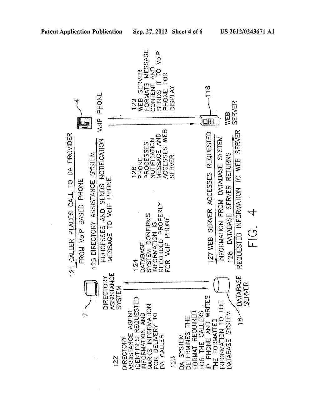 ENHANCED DIRECTORY ASSISTANCE SYSTEM WITH VOICE OVER IP CALL HANDLING - diagram, schematic, and image 05