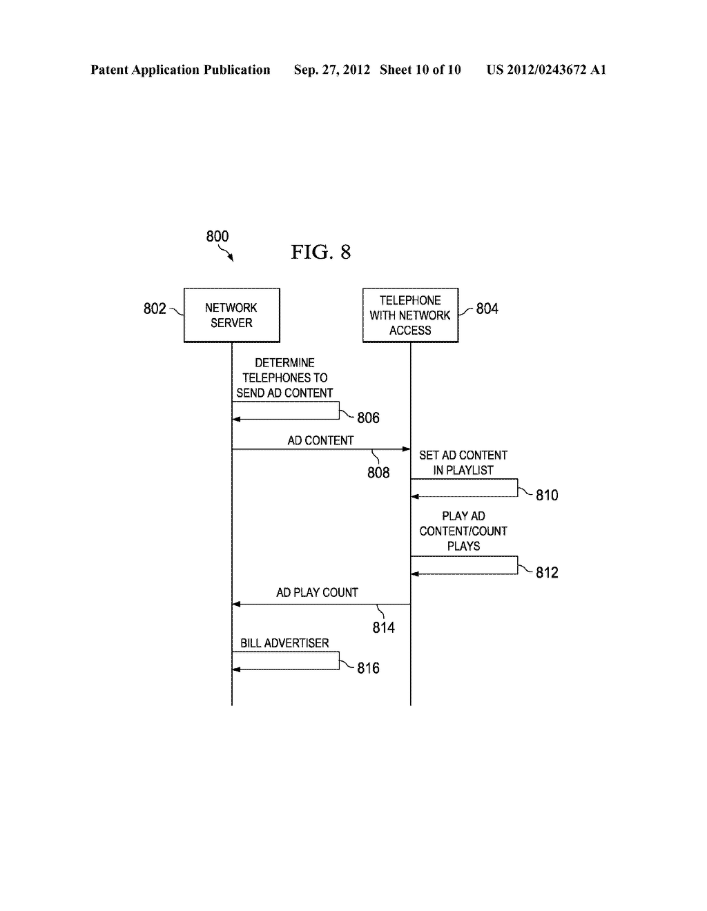 System and Method for Delivering Advertising to Packet-Based Telephones - diagram, schematic, and image 11