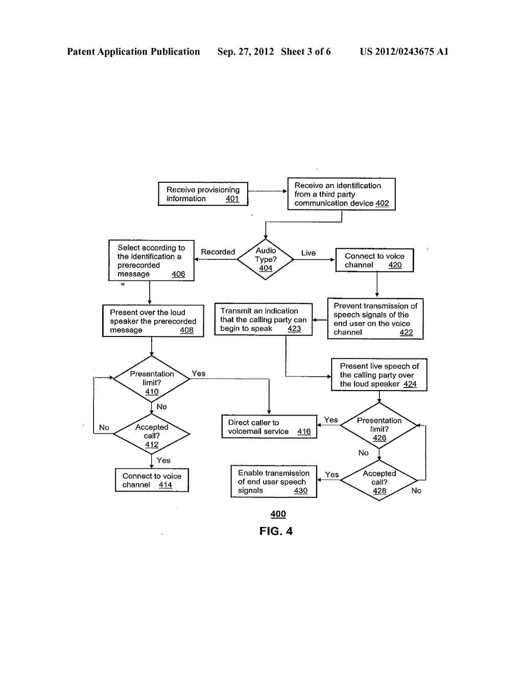 Method for Announcing a Calling Party From a Communication Device - diagram, schematic, and image 04