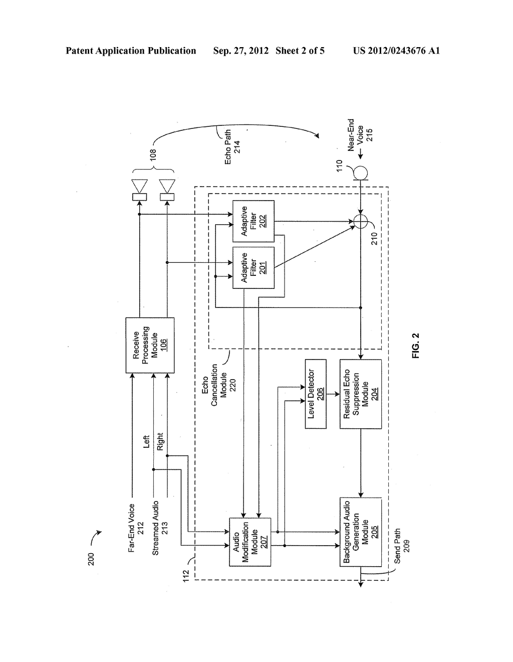 Method and System for Echo Cancellation in Presence of Streamed Audio - diagram, schematic, and image 03