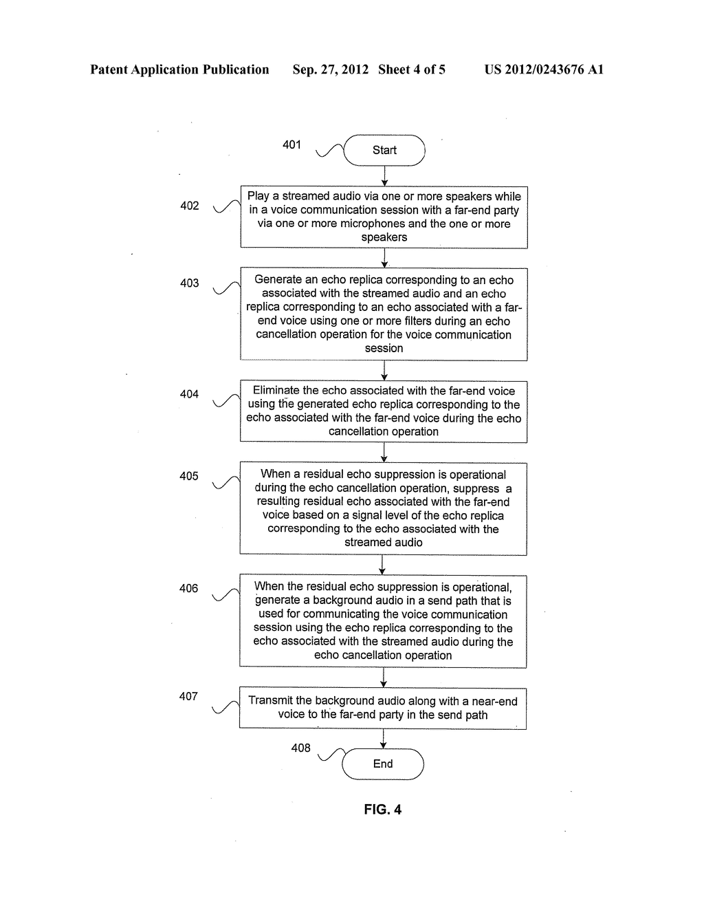 Method and System for Echo Cancellation in Presence of Streamed Audio - diagram, schematic, and image 05