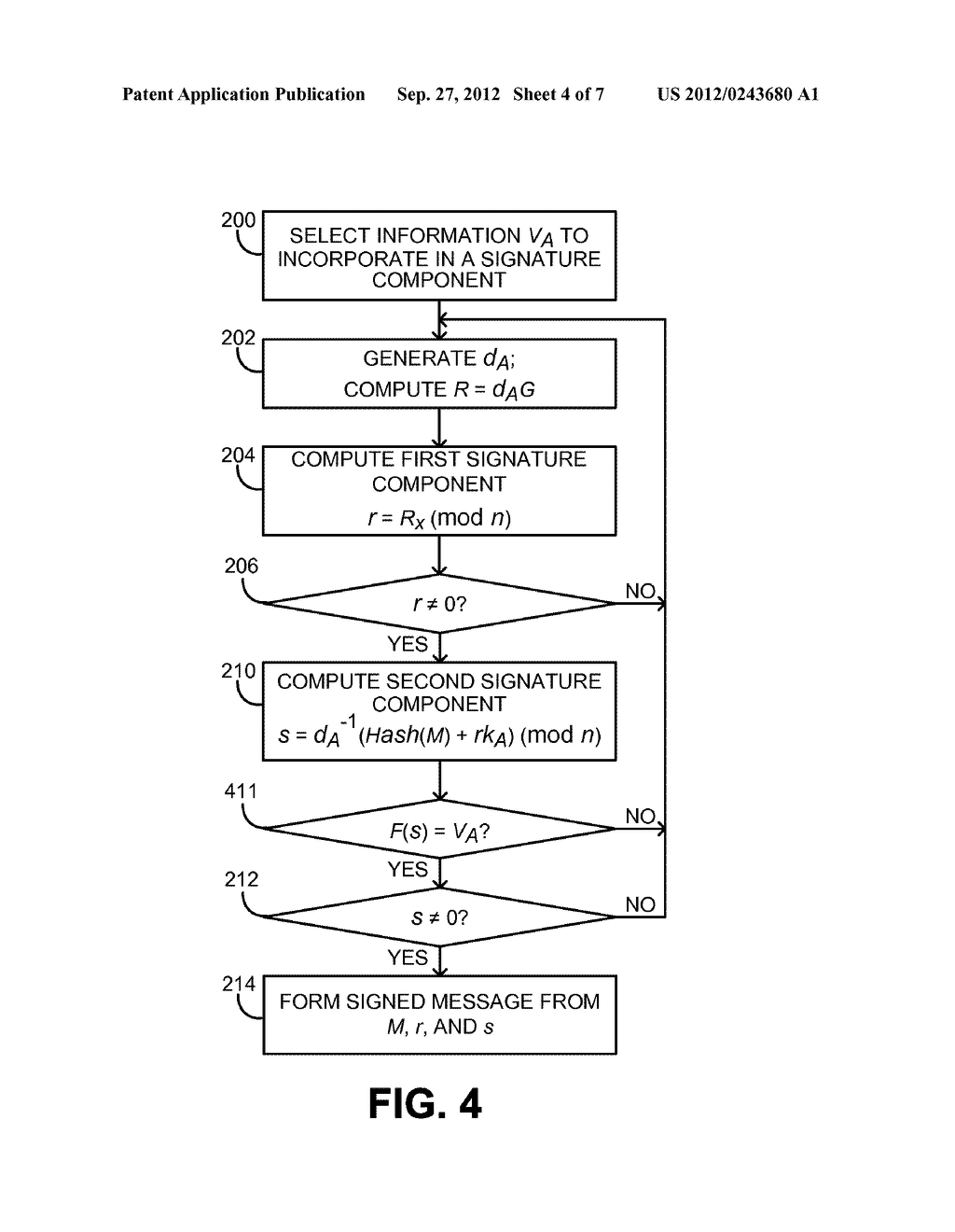 INCORPORATING DATA INTO AN ECDSA SIGNATURE COMPONENT - diagram, schematic, and image 05