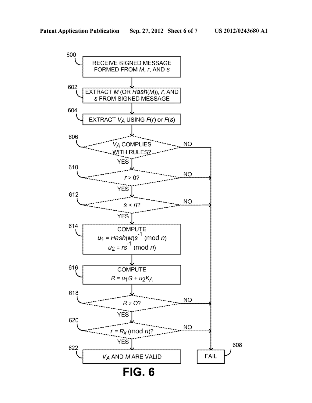 INCORPORATING DATA INTO AN ECDSA SIGNATURE COMPONENT - diagram, schematic, and image 07