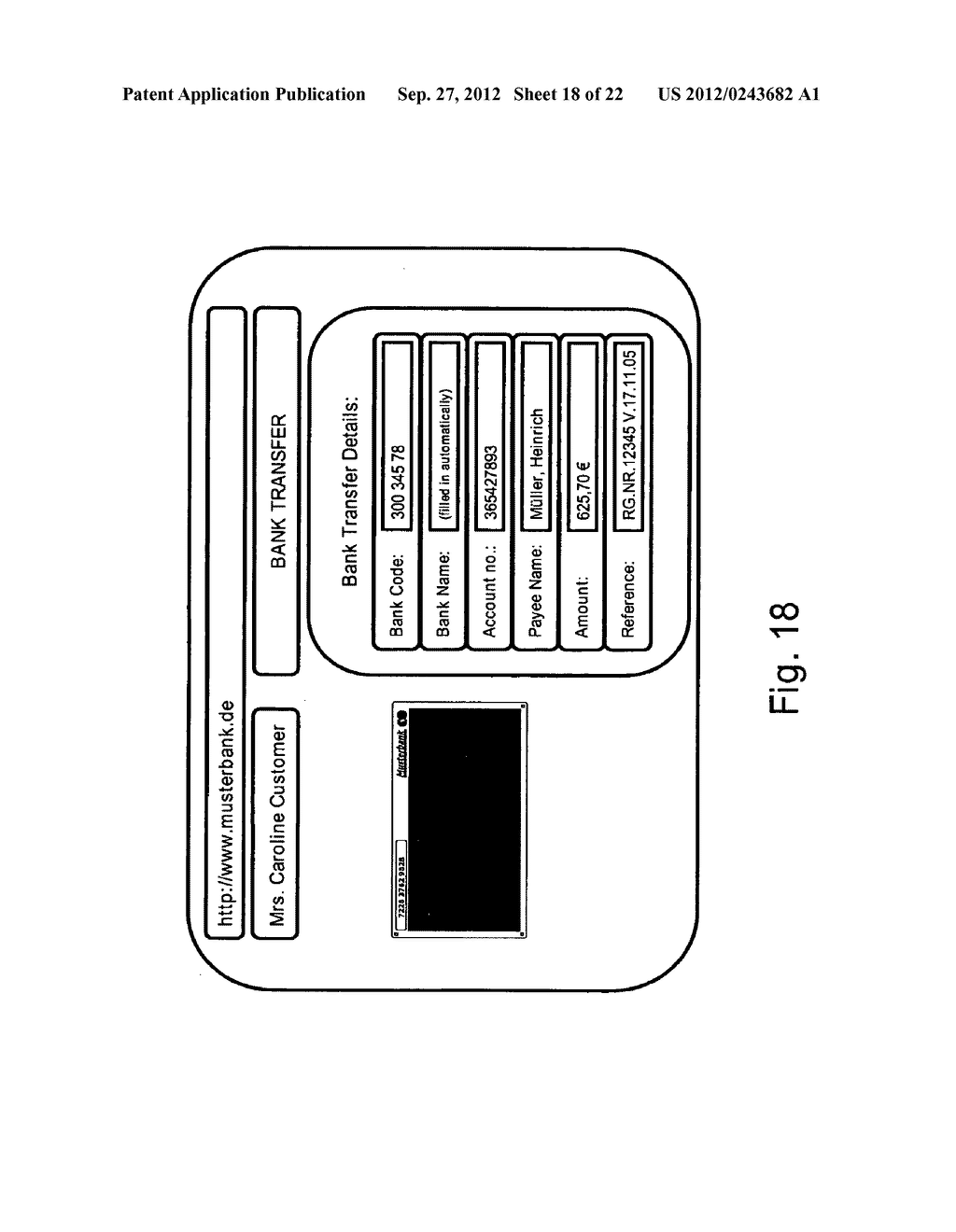 METHOD AND SYSTEM FOR TRANSMITTING DATA FROM A FIRST DATA PROCESSING     DEVICE TO A SECOND DATA PROCESSING DEVICE - diagram, schematic, and image 19