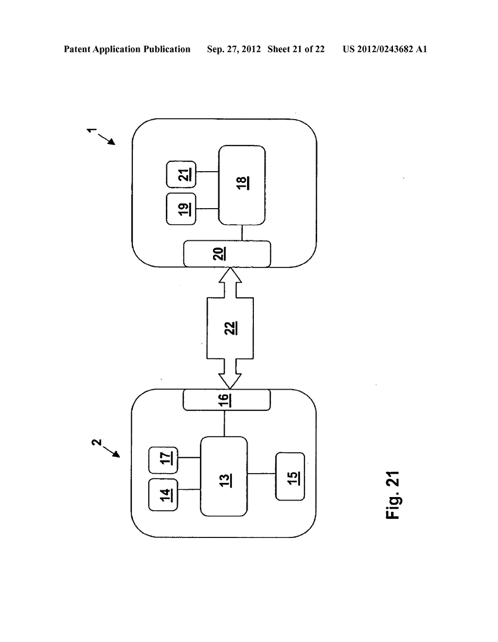 METHOD AND SYSTEM FOR TRANSMITTING DATA FROM A FIRST DATA PROCESSING     DEVICE TO A SECOND DATA PROCESSING DEVICE - diagram, schematic, and image 22