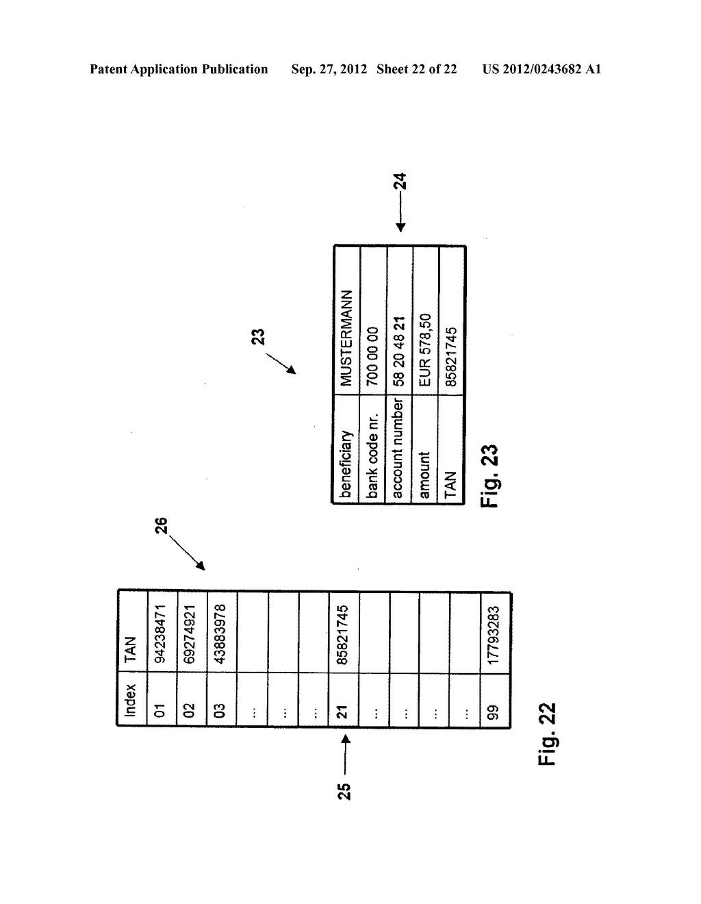 METHOD AND SYSTEM FOR TRANSMITTING DATA FROM A FIRST DATA PROCESSING     DEVICE TO A SECOND DATA PROCESSING DEVICE - diagram, schematic, and image 23