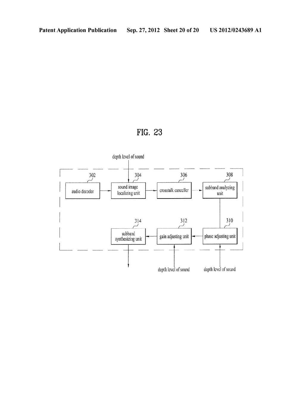 APPARATUS FOR CONTROLLING DEPTH/DISTANCE OF SOUND AND METHOD THEREOF - diagram, schematic, and image 21