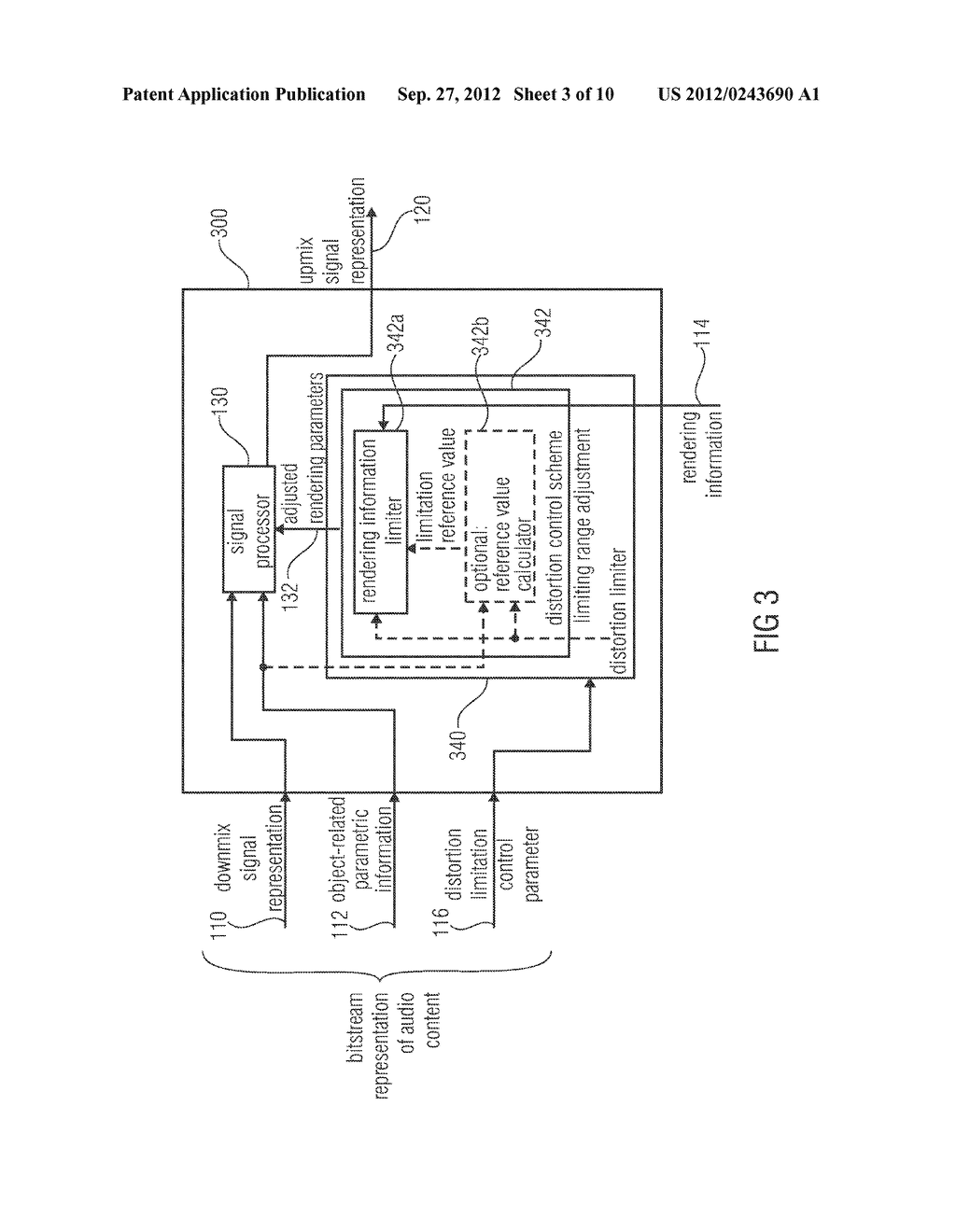 APPARATUS FOR PROVIDING AN UPMIX SIGNAL REPRESENTATION ON THE BASIS OF A     DOWNMIX SIGNAL REPRESENTATION, APPARATUS FOR PROVIDING A BITSTREAM     REPRESENTING A MULTI-CHANNEL AUDIO SIGNAL, METHODS, COMPUTER PROGRAM AND     BITSTREAM USING A DISTORTION CONTROL SIGNALING - diagram, schematic, and image 04