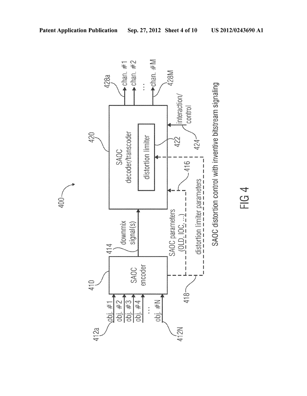 APPARATUS FOR PROVIDING AN UPMIX SIGNAL REPRESENTATION ON THE BASIS OF A     DOWNMIX SIGNAL REPRESENTATION, APPARATUS FOR PROVIDING A BITSTREAM     REPRESENTING A MULTI-CHANNEL AUDIO SIGNAL, METHODS, COMPUTER PROGRAM AND     BITSTREAM USING A DISTORTION CONTROL SIGNALING - diagram, schematic, and image 05