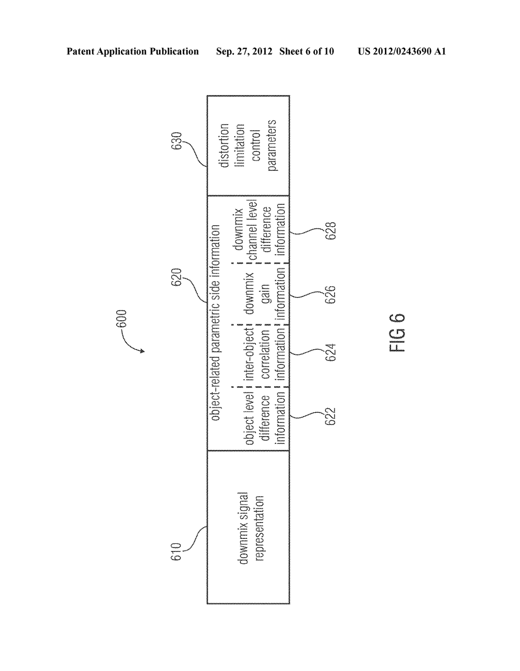 APPARATUS FOR PROVIDING AN UPMIX SIGNAL REPRESENTATION ON THE BASIS OF A     DOWNMIX SIGNAL REPRESENTATION, APPARATUS FOR PROVIDING A BITSTREAM     REPRESENTING A MULTI-CHANNEL AUDIO SIGNAL, METHODS, COMPUTER PROGRAM AND     BITSTREAM USING A DISTORTION CONTROL SIGNALING - diagram, schematic, and image 07
