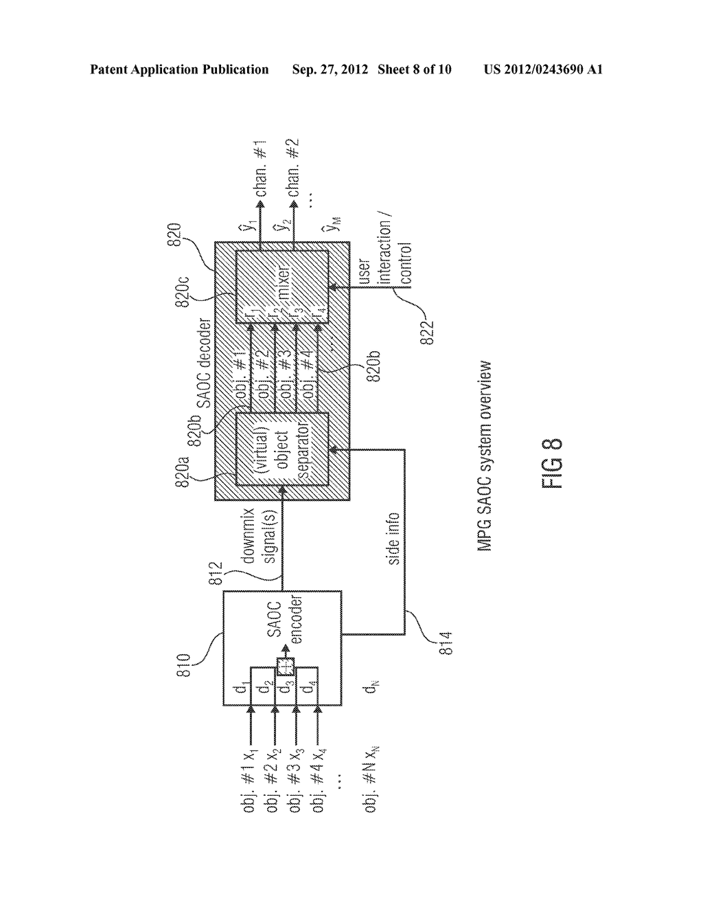 APPARATUS FOR PROVIDING AN UPMIX SIGNAL REPRESENTATION ON THE BASIS OF A     DOWNMIX SIGNAL REPRESENTATION, APPARATUS FOR PROVIDING A BITSTREAM     REPRESENTING A MULTI-CHANNEL AUDIO SIGNAL, METHODS, COMPUTER PROGRAM AND     BITSTREAM USING A DISTORTION CONTROL SIGNALING - diagram, schematic, and image 09
