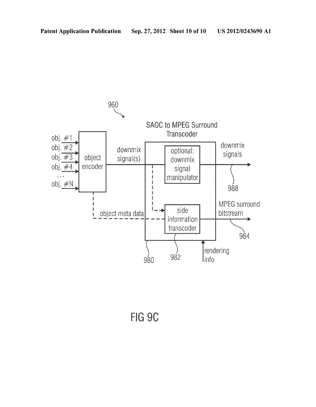 APPARATUS FOR PROVIDING AN UPMIX SIGNAL REPRESENTATION ON THE BASIS OF A     DOWNMIX SIGNAL REPRESENTATION, APPARATUS FOR PROVIDING A BITSTREAM     REPRESENTING A MULTI-CHANNEL AUDIO SIGNAL, METHODS, COMPUTER PROGRAM AND     BITSTREAM USING A DISTORTION CONTROL SIGNALING - diagram, schematic, and image 11