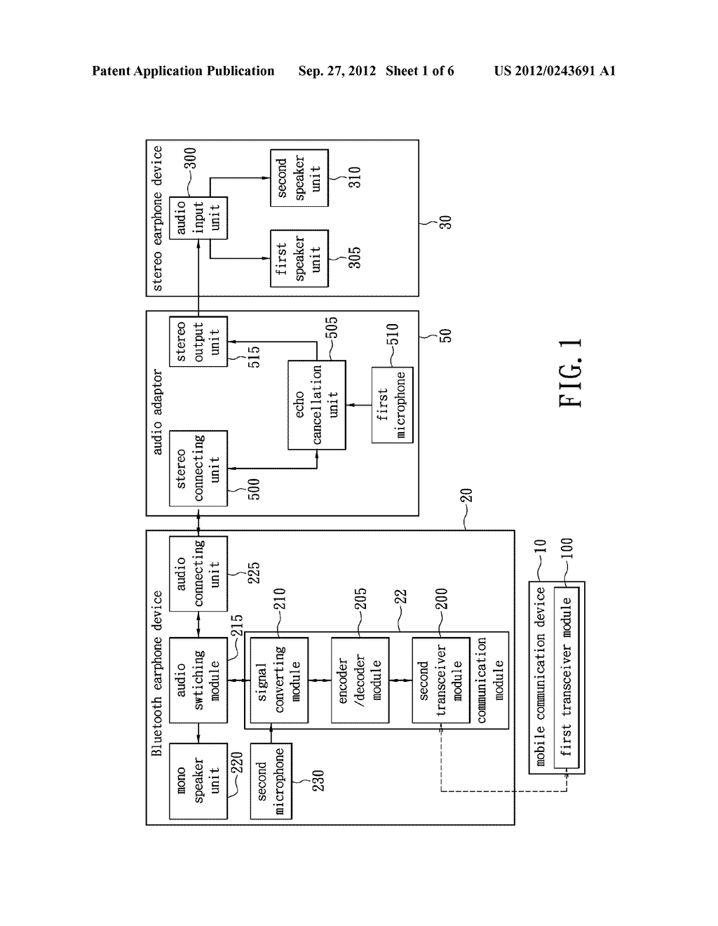 WIRELESS HEADSET DEVICE CAPABLE OF PROVIDING BALANCED STEREO AND METHOD     THEREOF - diagram, schematic, and image 02
