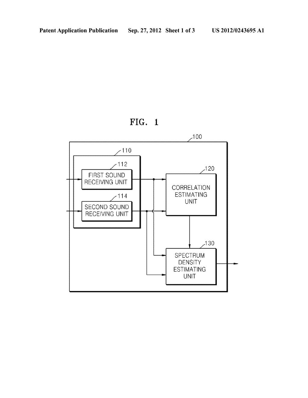 METHOD AND APPARATUS FOR ESTIMATING SPECTRUM DENSITY OF DIFFUSED NOISE - diagram, schematic, and image 02