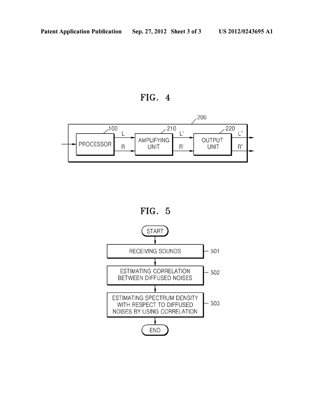 METHOD AND APPARATUS FOR ESTIMATING SPECTRUM DENSITY OF DIFFUSED NOISE - diagram, schematic, and image 04