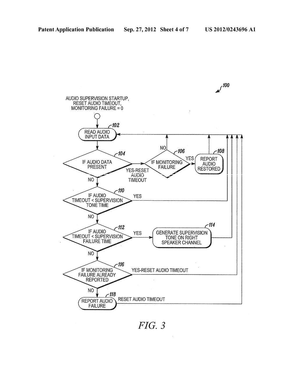 Supervisory Method and Apparatus for Audio Input Path - diagram, schematic, and image 05