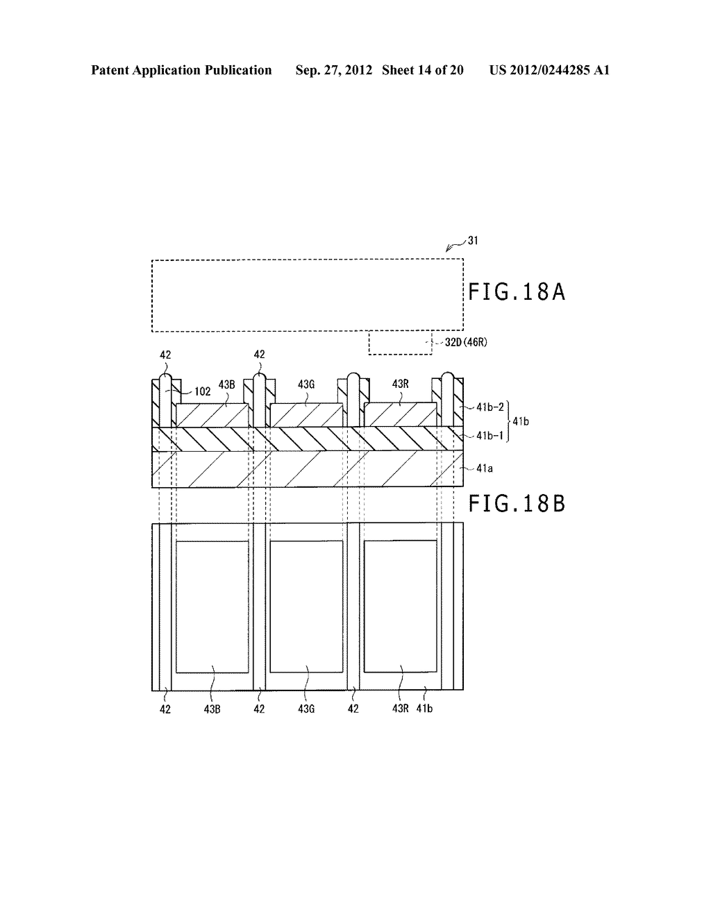 BUBBLE DISCHARGING STRUCTURE, REVERSE PRINTING BLOCK, DISPLAY DEVICE,     PRINTING METHOD, AND METHOD OF MANUFACTURING DISPLAY DEVICE - diagram, schematic, and image 15