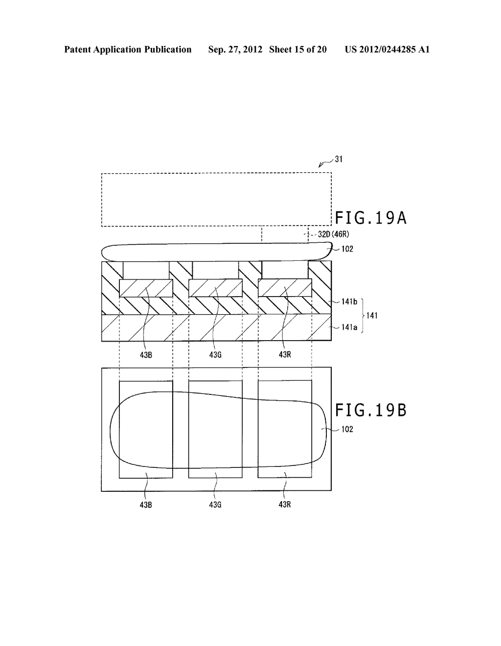 BUBBLE DISCHARGING STRUCTURE, REVERSE PRINTING BLOCK, DISPLAY DEVICE,     PRINTING METHOD, AND METHOD OF MANUFACTURING DISPLAY DEVICE - diagram, schematic, and image 16