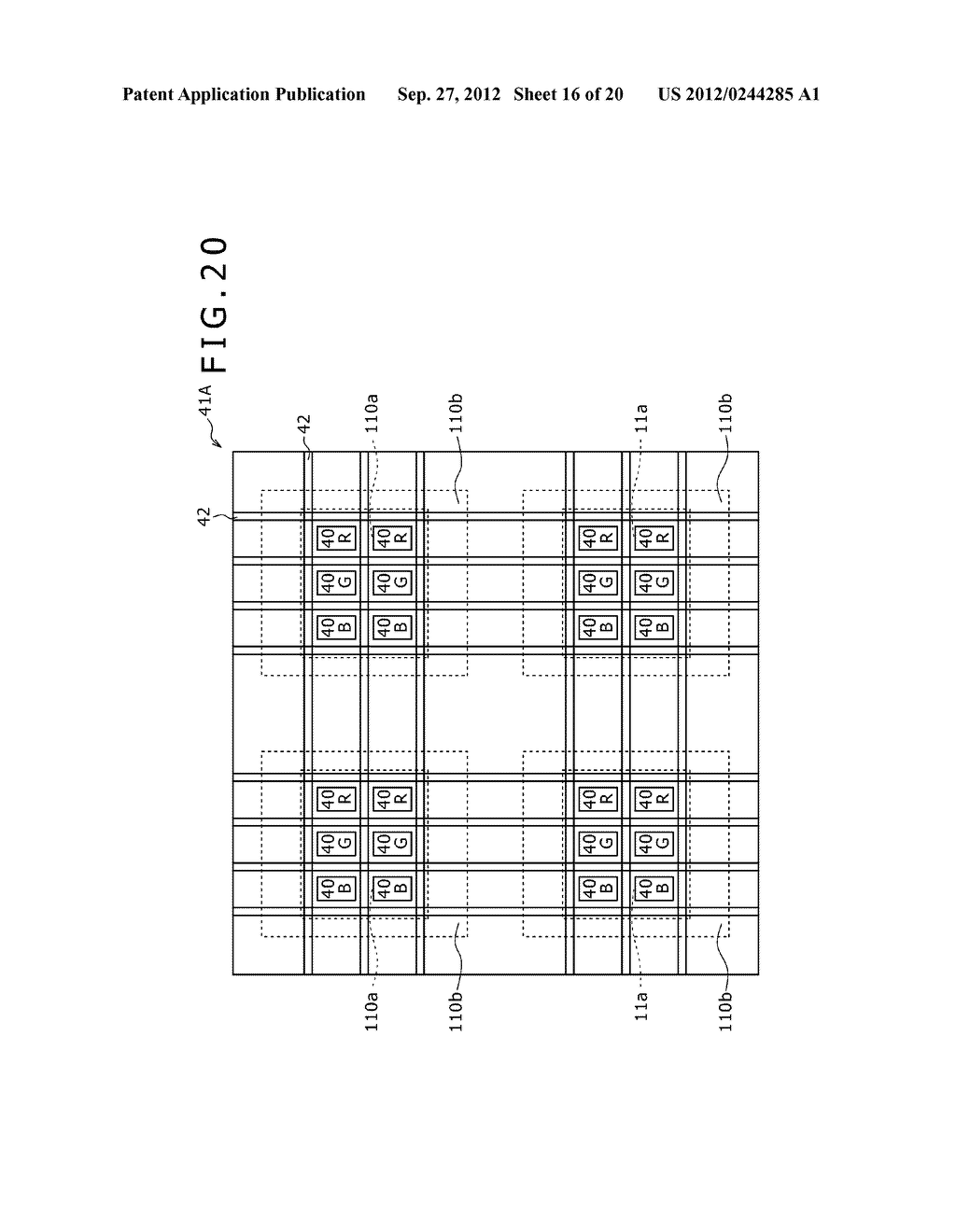 BUBBLE DISCHARGING STRUCTURE, REVERSE PRINTING BLOCK, DISPLAY DEVICE,     PRINTING METHOD, AND METHOD OF MANUFACTURING DISPLAY DEVICE - diagram, schematic, and image 17
