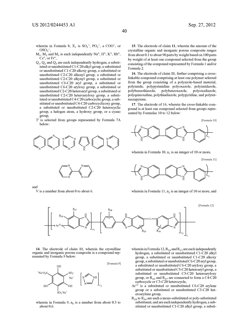 ELECTROLYTIC MEMBRANE FOR FUEL CELL, ELECTRODE FOR FUEL CELL, AND FUEL     CELL INCLUDING THE ELECTROLYTIC MEMBRANE AND/OR THE ELECTRODE - diagram, schematic, and image 46