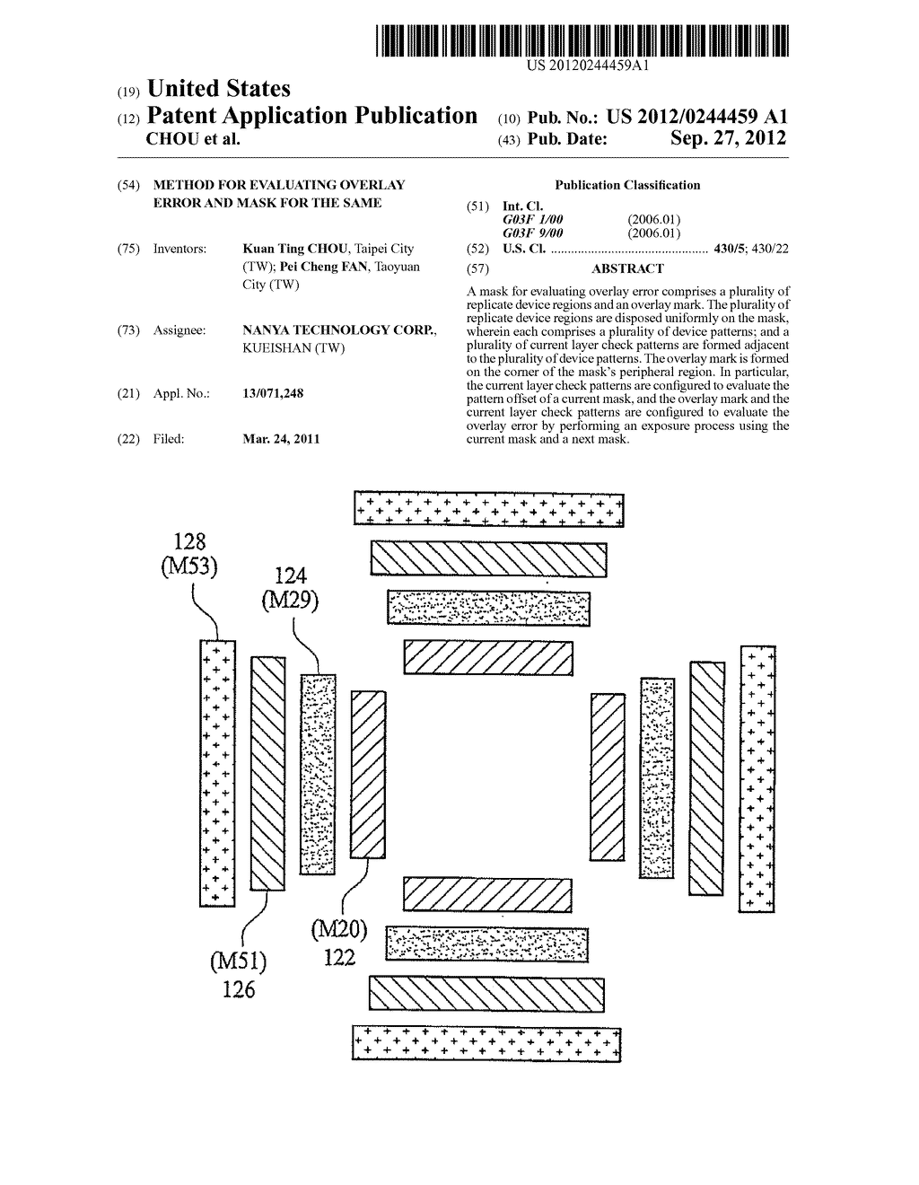 METHOD FOR EVALUATING OVERLAY ERROR AND MASK FOR THE SAME - diagram, schematic, and image 01