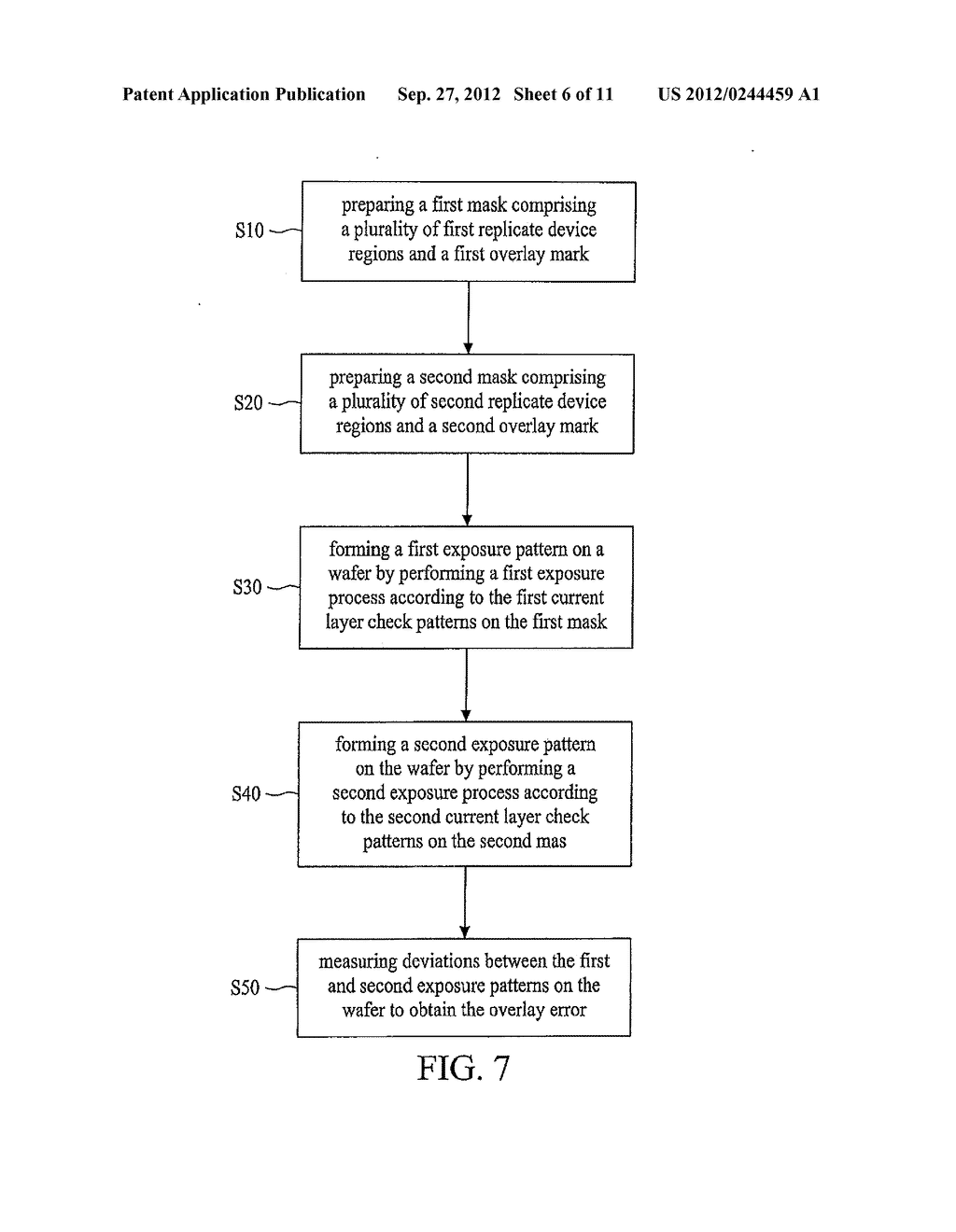 METHOD FOR EVALUATING OVERLAY ERROR AND MASK FOR THE SAME - diagram, schematic, and image 07