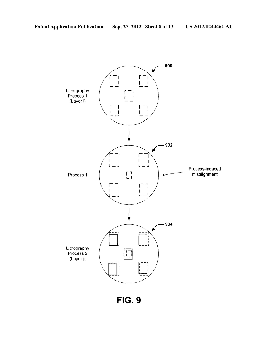OVERLAY CONTROL METHOD AND A SEMICONDUCTOR MANUFACTURING METHOD AND     APPARATUS EMPLOYING THE SAME - diagram, schematic, and image 09