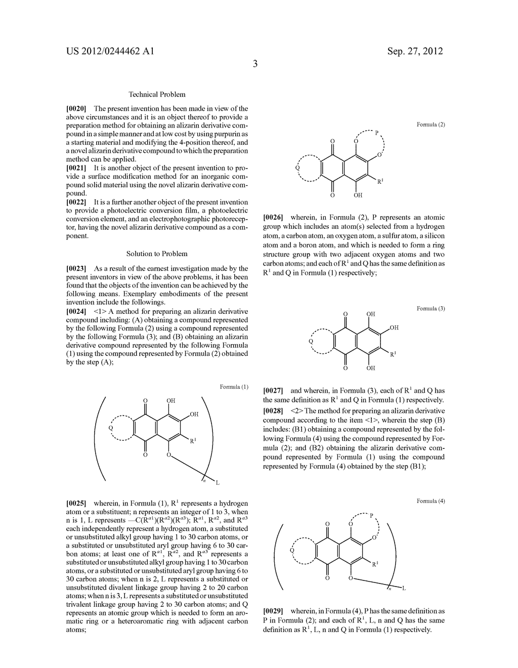 METHOD FOR PREPARING ALIZARIN DERIVATIVE COMPOUND, NOVEL ALIZARIN     DERIVATIVE COMPOUND, SURFACE MODIFICATION METHOD, PHOTOELECTRIC     CONVERSION FILM, PHOTOELECTRIC CONVERSION ELEMENT, AND     ELECTROPHOTOGRAPHIC PHOTORECEPTOR - diagram, schematic, and image 05
