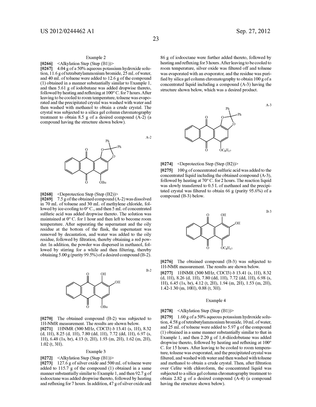 METHOD FOR PREPARING ALIZARIN DERIVATIVE COMPOUND, NOVEL ALIZARIN     DERIVATIVE COMPOUND, SURFACE MODIFICATION METHOD, PHOTOELECTRIC     CONVERSION FILM, PHOTOELECTRIC CONVERSION ELEMENT, AND     ELECTROPHOTOGRAPHIC PHOTORECEPTOR - diagram, schematic, and image 25
