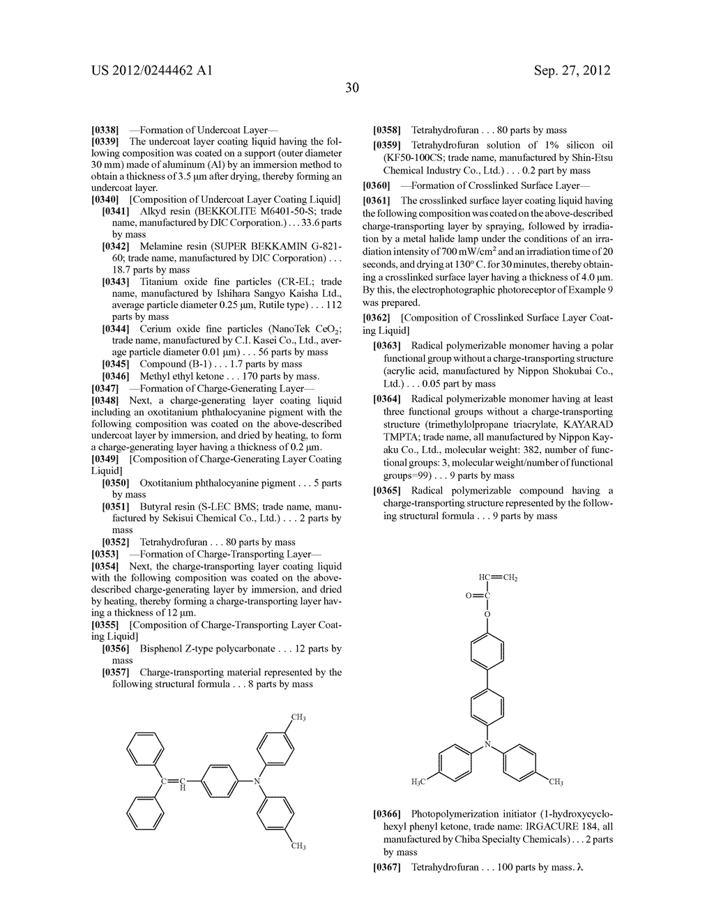 METHOD FOR PREPARING ALIZARIN DERIVATIVE COMPOUND, NOVEL ALIZARIN     DERIVATIVE COMPOUND, SURFACE MODIFICATION METHOD, PHOTOELECTRIC     CONVERSION FILM, PHOTOELECTRIC CONVERSION ELEMENT, AND     ELECTROPHOTOGRAPHIC PHOTORECEPTOR - diagram, schematic, and image 32