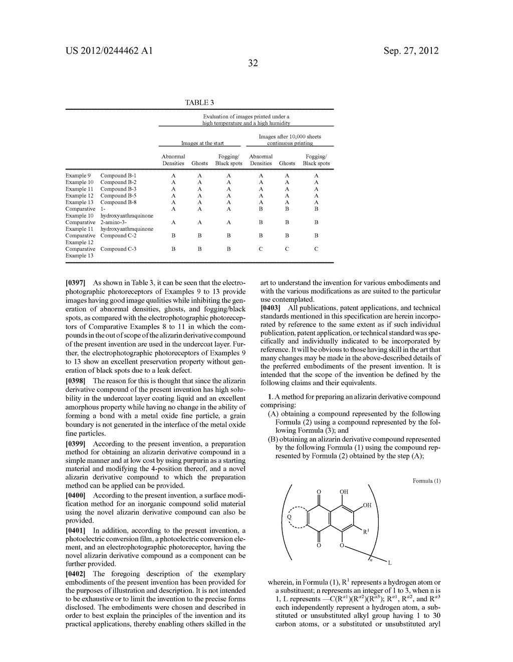 METHOD FOR PREPARING ALIZARIN DERIVATIVE COMPOUND, NOVEL ALIZARIN     DERIVATIVE COMPOUND, SURFACE MODIFICATION METHOD, PHOTOELECTRIC     CONVERSION FILM, PHOTOELECTRIC CONVERSION ELEMENT, AND     ELECTROPHOTOGRAPHIC PHOTORECEPTOR - diagram, schematic, and image 34