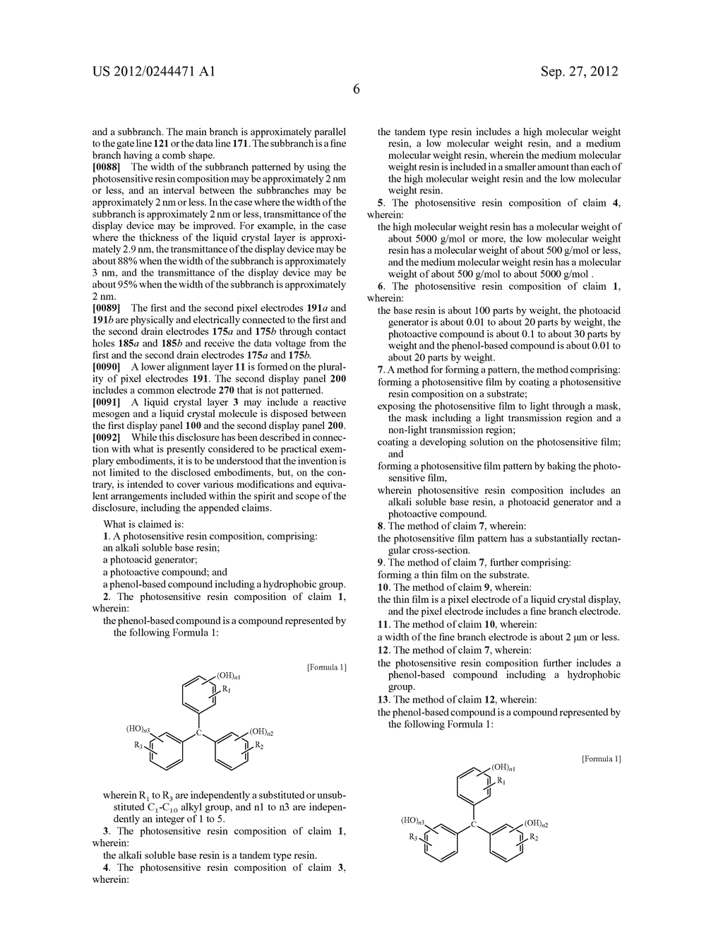 PHOTORESIST RESIN COMPOSITION AND METHOD OF FORMING PATTERNS BY USING THE     SAME - diagram, schematic, and image 16