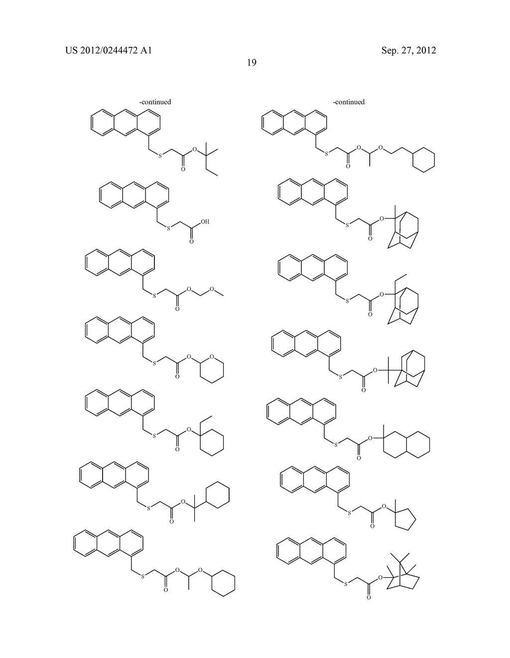 ACTINIC RAY-SENSITIVE OR RADIATION-SENSITIVE RESIN COMPOSITION, FILM     FORMED USING THE COMPOSITION AND PATTERN FORMING METHOD USING THE SAME - diagram, schematic, and image 20