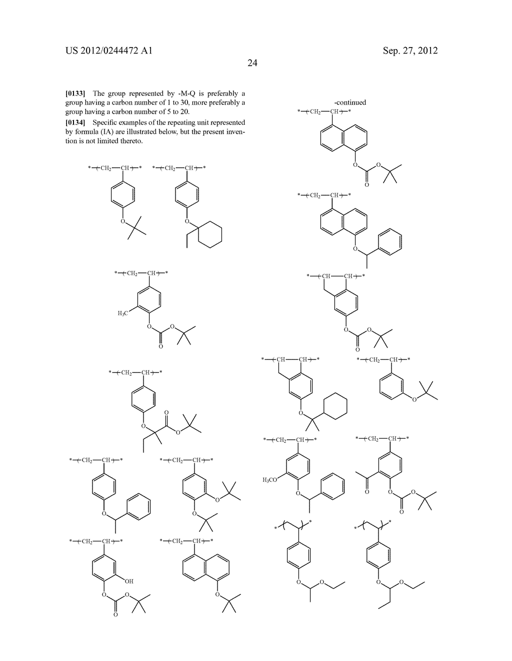 ACTINIC RAY-SENSITIVE OR RADIATION-SENSITIVE RESIN COMPOSITION, FILM     FORMED USING THE COMPOSITION AND PATTERN FORMING METHOD USING THE SAME - diagram, schematic, and image 25