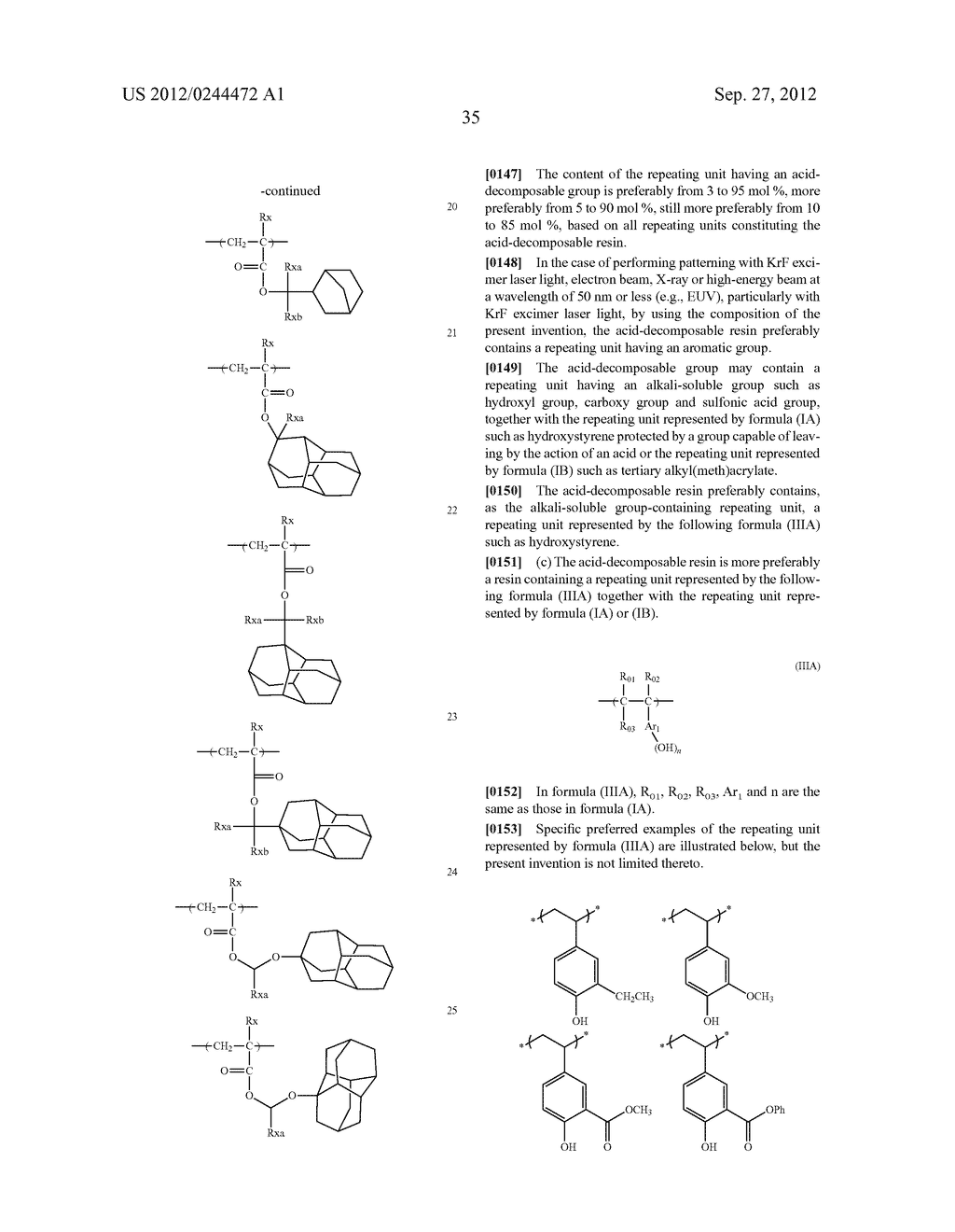 ACTINIC RAY-SENSITIVE OR RADIATION-SENSITIVE RESIN COMPOSITION, FILM     FORMED USING THE COMPOSITION AND PATTERN FORMING METHOD USING THE SAME - diagram, schematic, and image 36