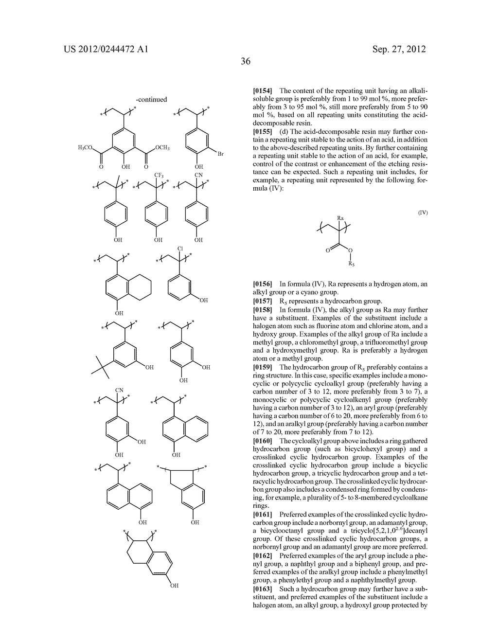 ACTINIC RAY-SENSITIVE OR RADIATION-SENSITIVE RESIN COMPOSITION, FILM     FORMED USING THE COMPOSITION AND PATTERN FORMING METHOD USING THE SAME - diagram, schematic, and image 37