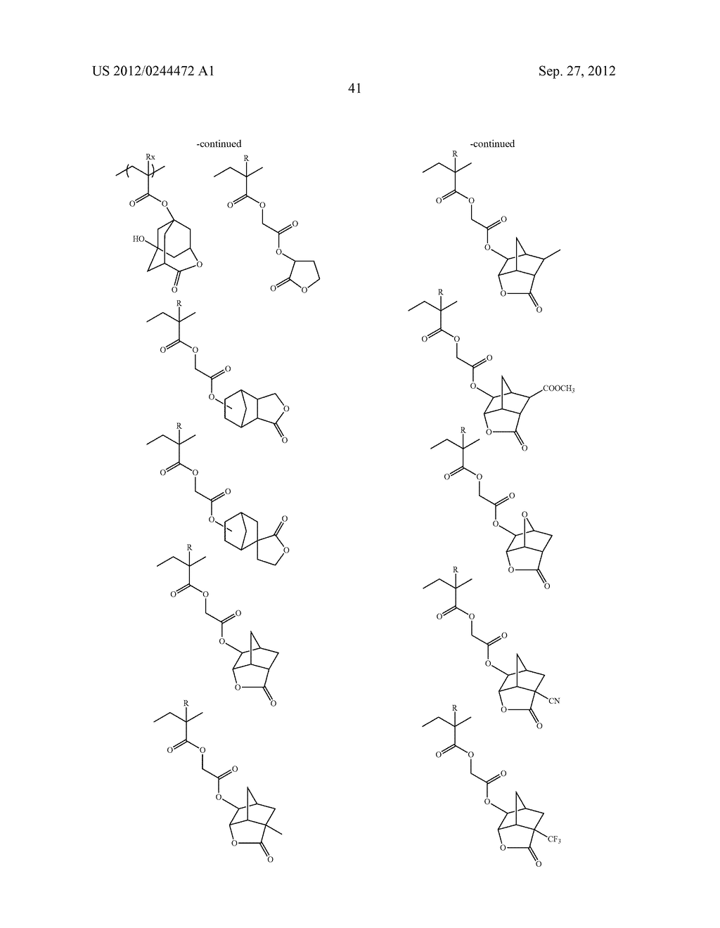 ACTINIC RAY-SENSITIVE OR RADIATION-SENSITIVE RESIN COMPOSITION, FILM     FORMED USING THE COMPOSITION AND PATTERN FORMING METHOD USING THE SAME - diagram, schematic, and image 42