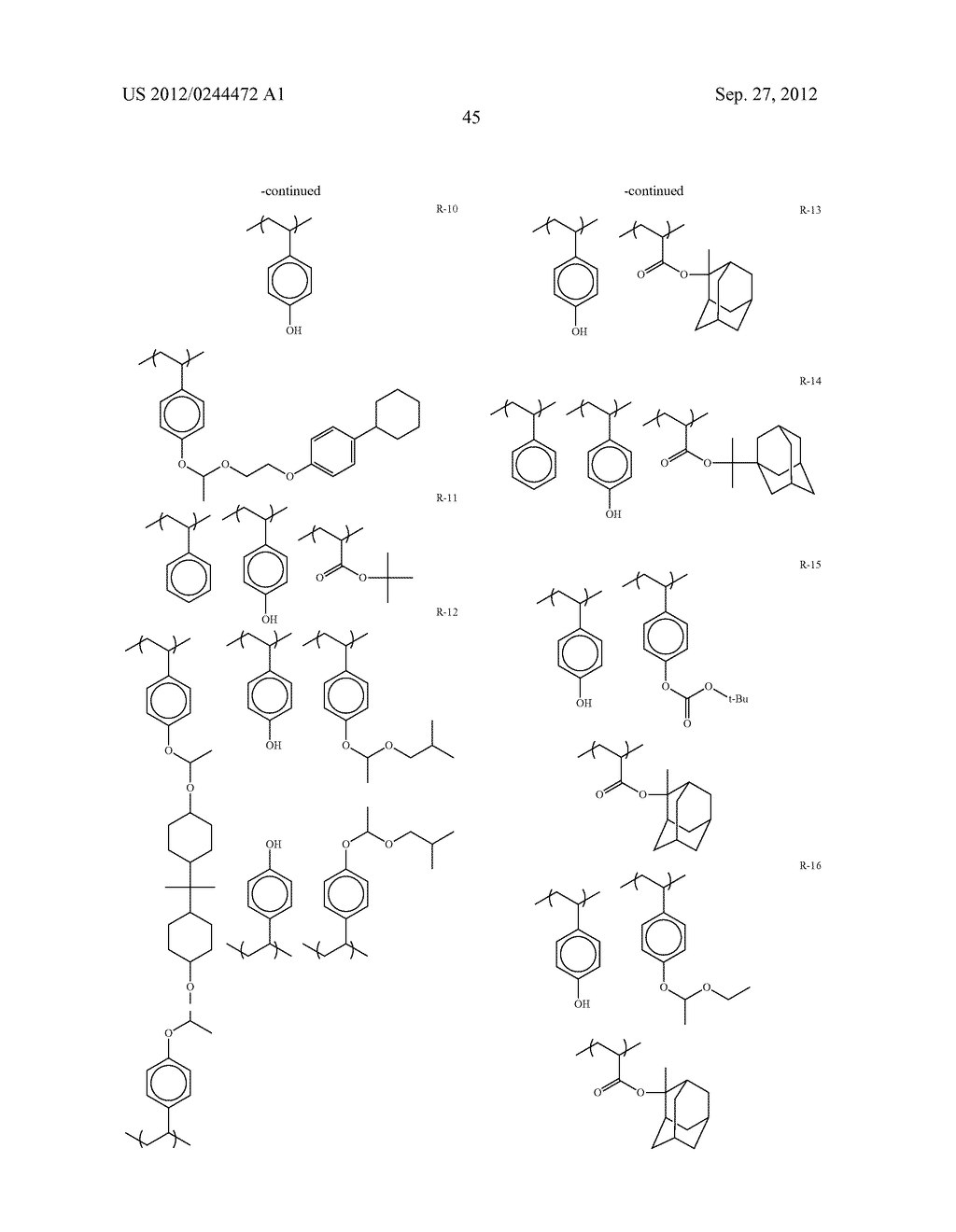 ACTINIC RAY-SENSITIVE OR RADIATION-SENSITIVE RESIN COMPOSITION, FILM     FORMED USING THE COMPOSITION AND PATTERN FORMING METHOD USING THE SAME - diagram, schematic, and image 46