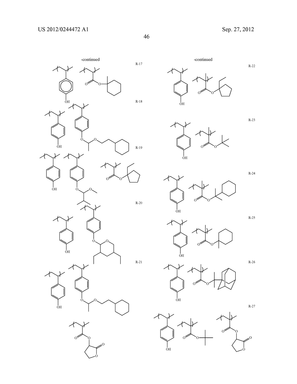 ACTINIC RAY-SENSITIVE OR RADIATION-SENSITIVE RESIN COMPOSITION, FILM     FORMED USING THE COMPOSITION AND PATTERN FORMING METHOD USING THE SAME - diagram, schematic, and image 47