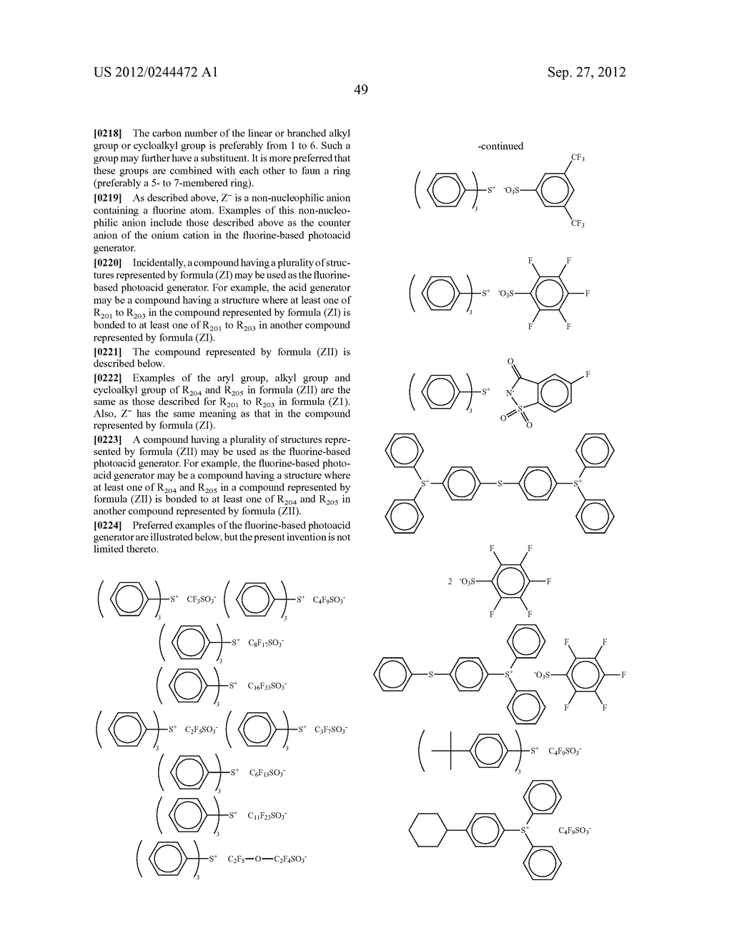 ACTINIC RAY-SENSITIVE OR RADIATION-SENSITIVE RESIN COMPOSITION, FILM     FORMED USING THE COMPOSITION AND PATTERN FORMING METHOD USING THE SAME - diagram, schematic, and image 50
