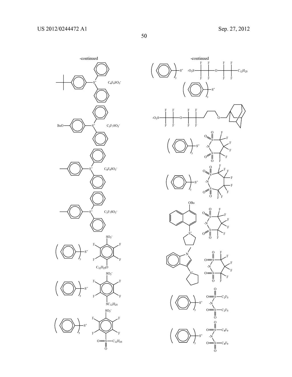 ACTINIC RAY-SENSITIVE OR RADIATION-SENSITIVE RESIN COMPOSITION, FILM     FORMED USING THE COMPOSITION AND PATTERN FORMING METHOD USING THE SAME - diagram, schematic, and image 51