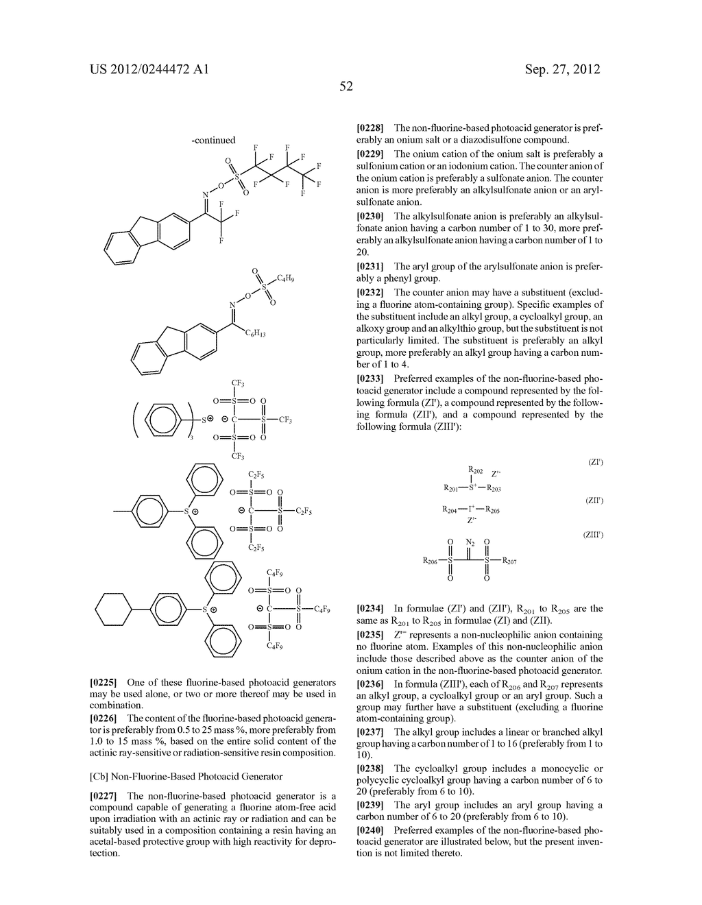ACTINIC RAY-SENSITIVE OR RADIATION-SENSITIVE RESIN COMPOSITION, FILM     FORMED USING THE COMPOSITION AND PATTERN FORMING METHOD USING THE SAME - diagram, schematic, and image 53